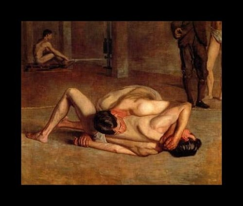 Wrestlers, by Thomas Eakins
