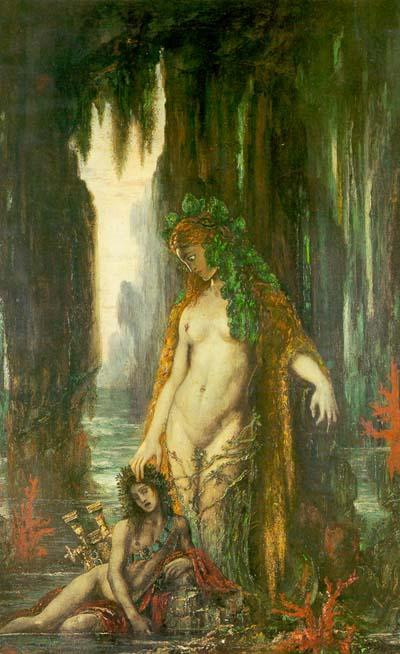 The Poet and the Siren, Gustave Moreau Things my poverty prevented me from doing: spending the rest of my life studying, thinking, and writing about Moreau's poets, their relation to the physical and spiritual worlds, their hermaphroditism, their identification with his saints and martyrs, their relationship to Moreau's Apollo, and Moreau's Sappho as the compliment and opposite of his Salome. I will forgive the vagaries of fate in exactly never.