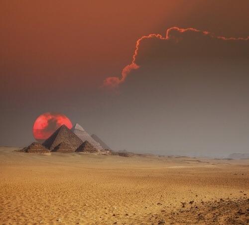 Sunset at the Pyramids, Cairo