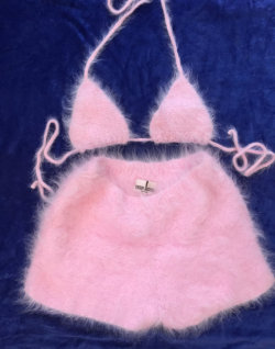 popular shorts pink etsy bikini set bra matching handmade bralet boyshorts etsy finds bralette angora found on Etsy to buy matching set to purchase