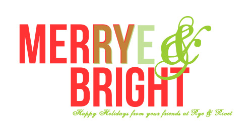 "Wishing all our friends a happy and safe holiday season— we're so grateful for all the wonderful experiences that we've had through Rye & Rivet this past year, from meeting and interviewing our heroes to continuing to be impressed and surprised by all the support we've gotten from you readers. We can't say ""thanks"" enough."