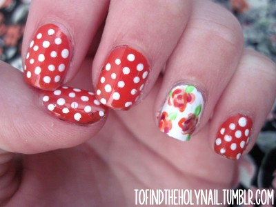nailfood:  Original: http://tofindtheholynail.tumblr.com/post/50576310537/warm-weather-hurray-oh-also-here-are-some