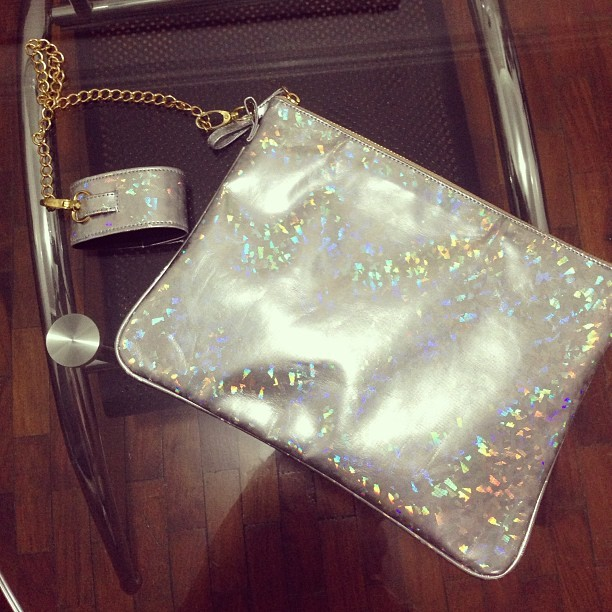Hologram clutch, yay or nay???  (at Gold Dot HQ)