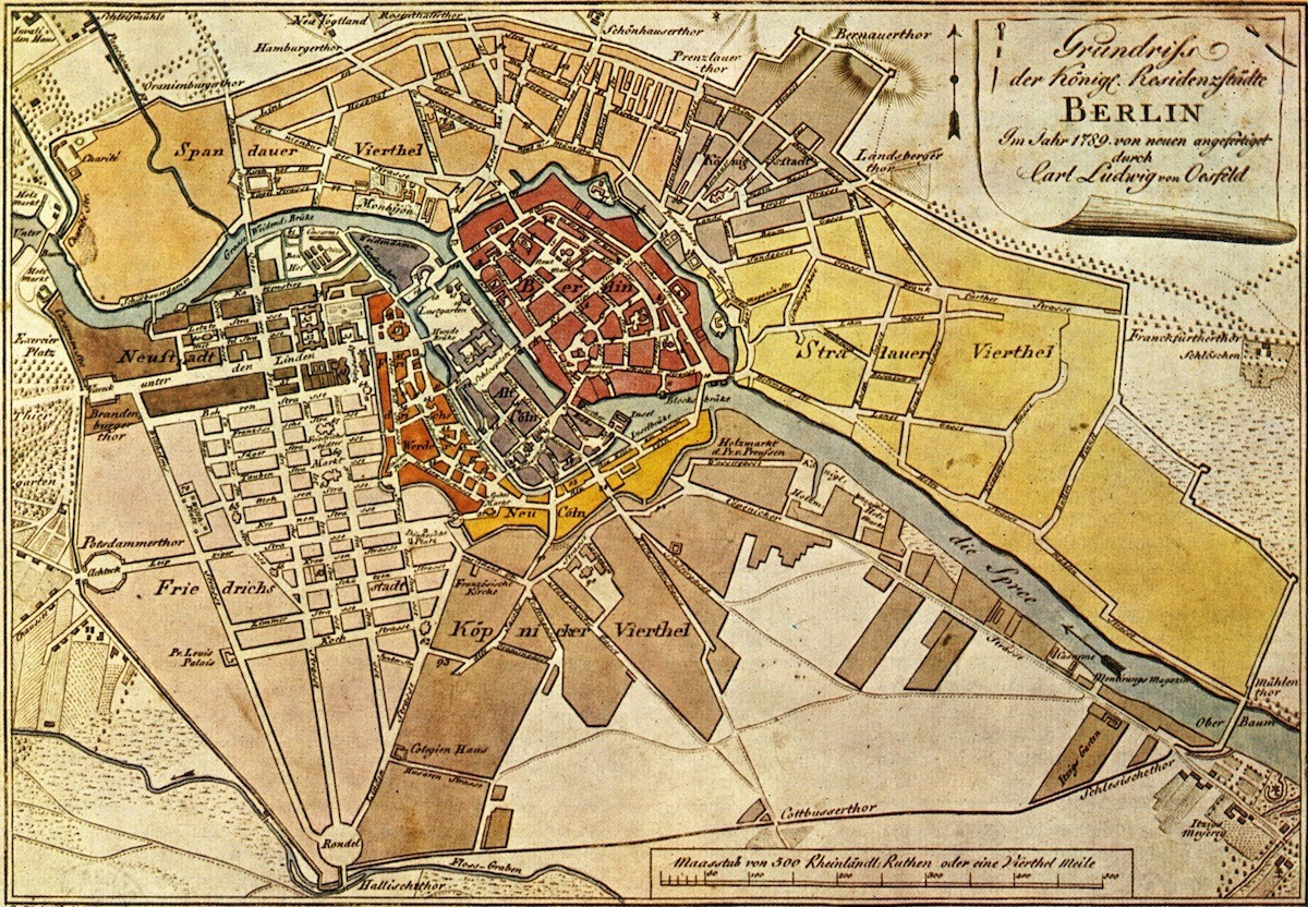 gidsy:  Map of Berlin from 1789. Super cool.  Berliners - can you spot your neighbourhood or street?   I misssss Berlin.