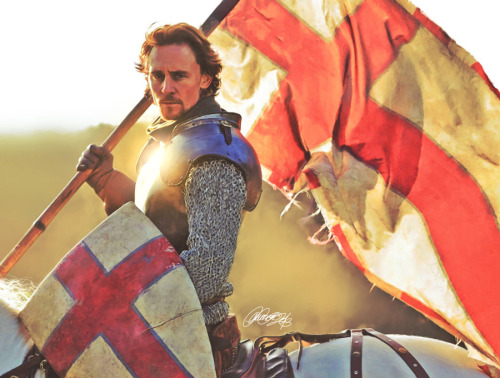 lauraracero:  Tom Hiddleston as Henry V in The Hollow Crown –digital painting in Photoshop. 16 hours.Art print available.