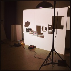 We're on the set of our AW13 campaign shoot! It's all about playing with shadows today - LGHQ x #AW13 #luluguinness