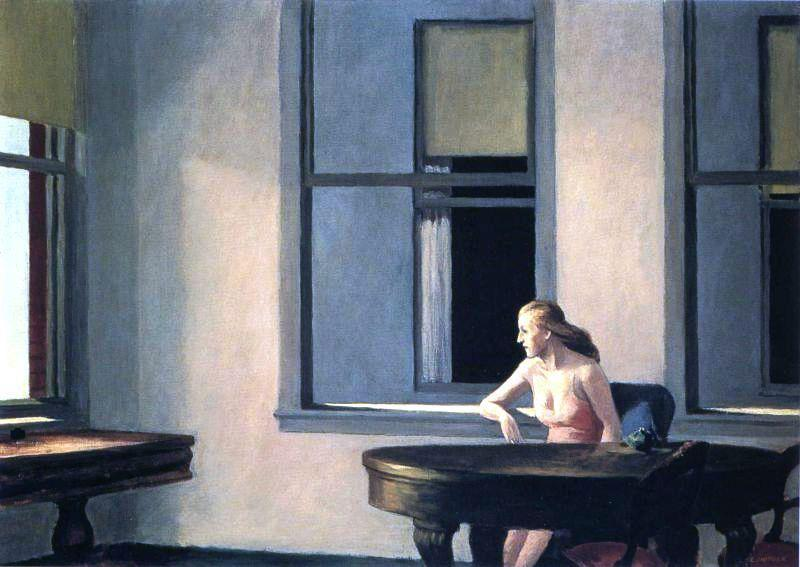 themagiclantern:  Edward Hopper – City Sunlight (1954). Oil on canvas, 28 3/16 x 40 1/8 in. (71.6 x 101.9 cm). Hirshhorn Museum and Sculpture Garden, Washington, USA