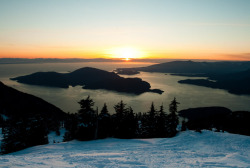 fyeahbcparks:  Sunset on Vancouver Island by Nicolas Untz Howe Sound from Mount Strachan; Cypress