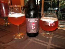 Grassroots Brewing Convivial Suarez - Developing nicely. Had a lot more brett character than I remember from the 1st bottle in March. Really happy I have enough of these to track how they develop over the next couple years.