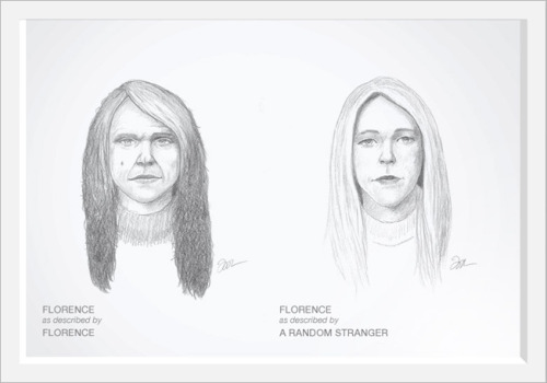SKETCHES SHOW HOW WE SEE OURSELVES VS. HOW STRANGERS DOby Mary Traina http://hellogiggles.com/sketches-show-how-we-see-ourselves-vs-how-strangers-do