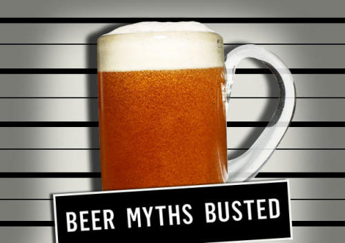 "MYTH #1: Beer is best served as cold as possibleFACT: Flavor emerges with a bit of warmth We've been duped by the Big Beer's ad campaigns. Consider the ice-frosted mugs, ubiquitous use of the phrase ""ice cold,"" or—perhaps most obnoxious—Coors Light's ""cold-activated"" bottles and cans. (When the beer is cold enough, the mountains on the label ""activate"" by morphing from white to blue.) Fellas, this is ruining otherwise good beer. ""You lose aromatics when you serve beer too cold,"" says Dave Engbers, co-owner of Founders Brewing Co., adding that beer is best consumed between 46 and 50°F. ""Typically beer is dispensed from the draft line between 38 and 42 degrees,"" he says. ""So just cup the glass for a couple minutes with your hands and you'll warm it to the right temperature."" Then you'll actually taste beer—not the taste-bud numbing effect of near-frozen liquid. Click on the image to get the break down on more beer myths!"