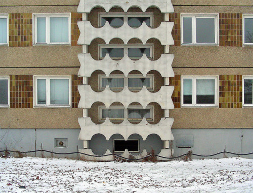 architectureofdoom:  Jamlitzer Straße, Cottbus, East Germany