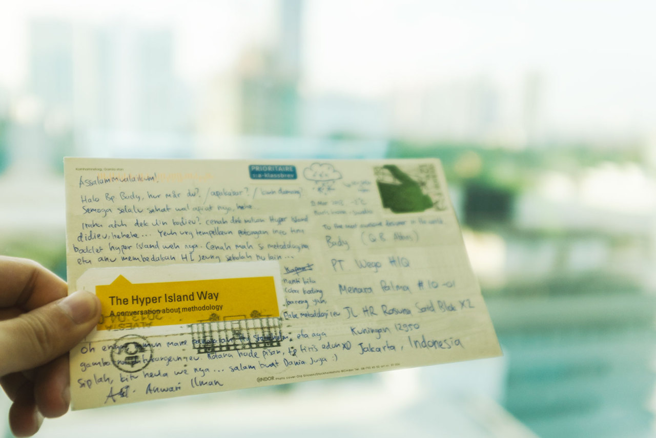 Post card from far away. Nuhun Cuy!