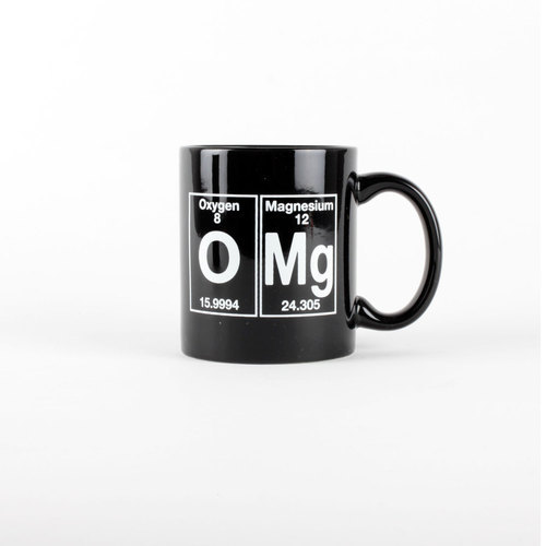 laughingsquid:  Periodic Table Themed OMG Coffee Mug  Must have.