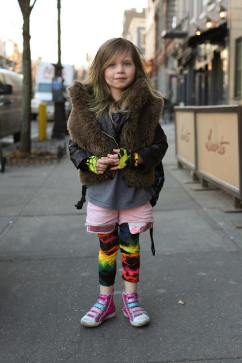 "humansofnewyork:  ""We ordered her those pants, and as soon as they arrived, she cut off the bottoms and made a pair of gloves."""