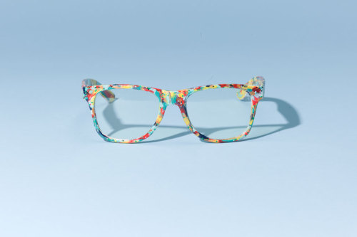 Go wild with some crazy cool abstract eyewear this season! Learn how to DIY your very own pair of colorful frames.