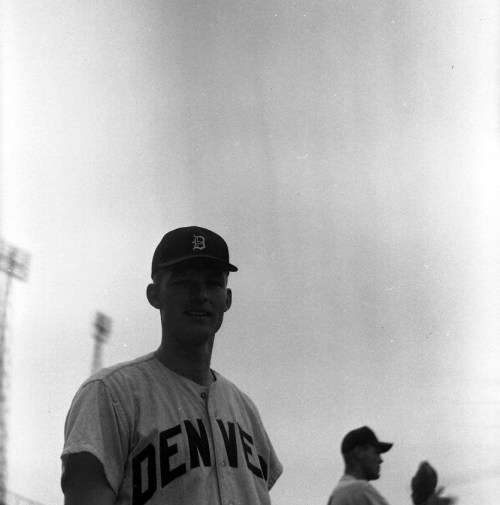 mightyflynn:  Purnal Goldy, ca. 1962 Denver Bears via jteeee