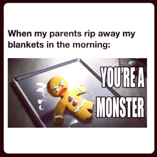 #lol #sotrue #gingerbread #tiredinmorning #evil #monsters #notevenclosetobeingawake