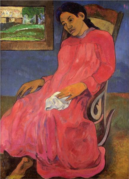 """Melancholic""  by Paul Gauguin"