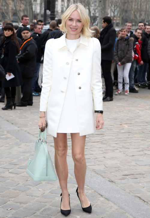 ac-z:  Naomi Watts at the Louis Vuitton show during PFW in Paris, March 6.