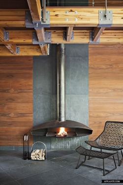 justthedesign:  Fireplace House By Olga Freyman
