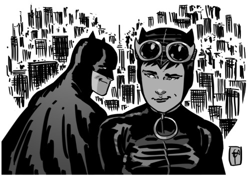 docshaner:  Happy Valentine's Day from Gotham City.  Cutest couple in comics.