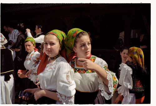 "Love Celebration, Romanian style: Dragobetele.  ""On Dragobete, girls and boys dressed in holiday suits usually meet in front of the church and go searching for spring flowers. Then, they sit and talk around the fires lit on the hills in the village. At noon, the girls go back to the village running, each followed by the boy who fell in love with her. If the boy catches the girl he chose, and if the girl likes him, they will kiss in front of everybody. This kiss signals their engagement for one year, and Dragobete is an opportunity to show an attachment in front of the community.""http://goo.gl/SB8L4"