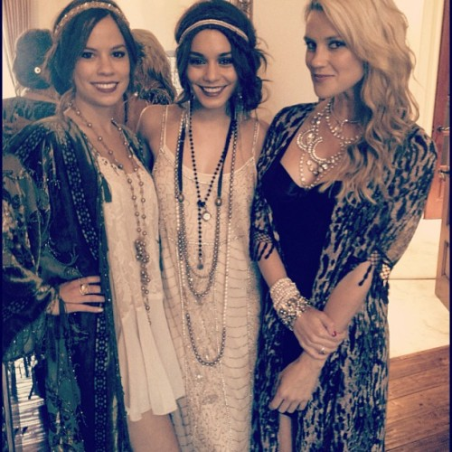 "It was a Gatsby kind of night. @lgypsy @vanessahudgens  ""In his blue gardens men and girls came and went like moths among the whisperings and the champagne and the stars."""