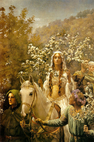 John Collier : Queen Guinevre's Maying, 1900