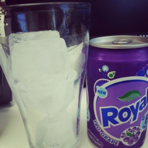 Ice-cold Royal Grape for this hot sunny afternoon #summer