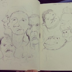 Pen doodles. #pen #art #faces #cartoon #illustration