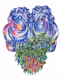 Tlaloc - illustrator Andrew Khosravani | Posted by devidsketchbook.com