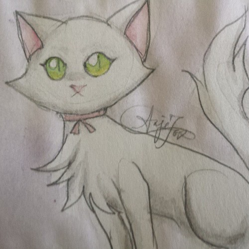 Cat design #art #watercolors #cat #character