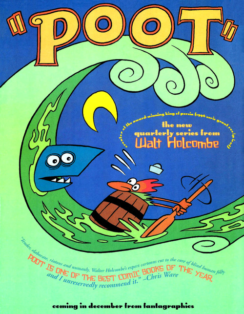 Promotional ad for Poot by Walt Holcombe, 1997.