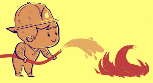 Fire fighter to the rescue…CUTE!