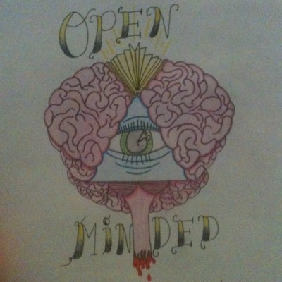 Not sure on the background yet but here it is #openminded #brain #tattooflash #tattoo #flash #flashart #coloredpencil #crayola #instatattoo #art #artist #me #book #allseeingeye #green #blue #pink #yellow #red #sketchaday #drawing #sketching #instacool #picoftheday #instalike #tagforlikes