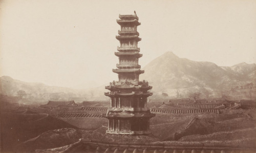 humanoidhistory:  Wongaksa Pagoda, Seoul, South Korea, built in 1467, photographed in 1884 by Percival Lowell.(Harvard Library)