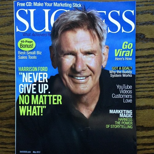 Check out pages 68-69 of the May issue of Success Magazine.