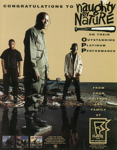 Naughty By Nature.  Advertisement.