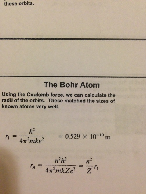 More like the bohring atom