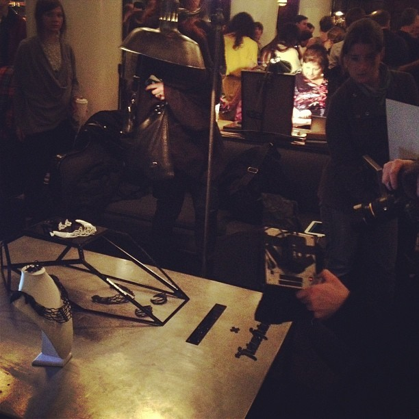 @Wired magazine currently shooting our setup at the Bespoke Jewelry Bazaar.  (at Ace Hotel Lobby & Bar)