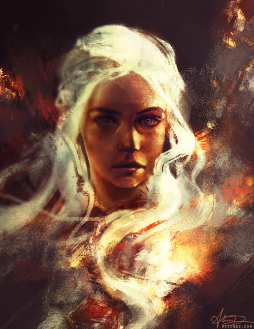 alicexz:  One does not fuck with Daenerys Targaryen. It is known. (Warm-up sketch for today… might do more on it later. How awesome was Game of Thrones yesterday?)