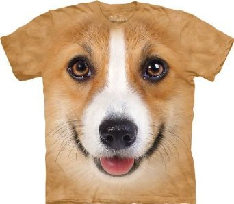 GIANT CORGI FACE T-SHIRT? Yes, please.