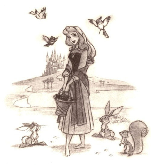 Drawing Girl Disney Draw Aurora Disney Princess Littleprincessdisney