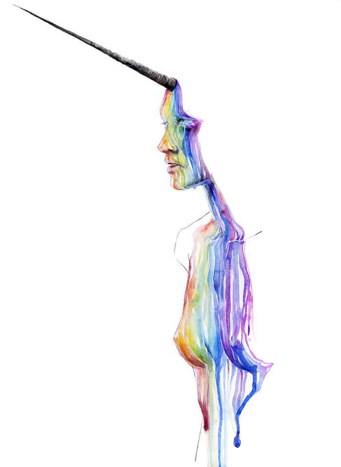 joellamarano:  Unicorn girl by =agnes-cecile
