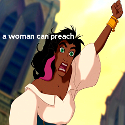 the-absolute-funniest-posts:  A woman can preach, a woman can work, a woman can fight. A woman can build, can rule, can conquer, can destroy just as much as a man can.