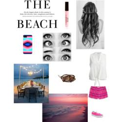 Dinner at the Beach por shmeagand con lip makeupEquipment silk shirt, $245 / Billabong highwaist shorts / Vans  sneaker / Chan Luu leather bracelet / Stila lip makeup, $23