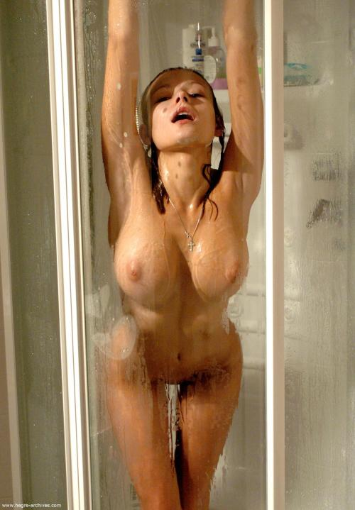 Hot girl in the shower. Need we say more?