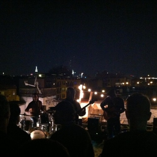 playing a second show on a rooftop in Brooklyn!