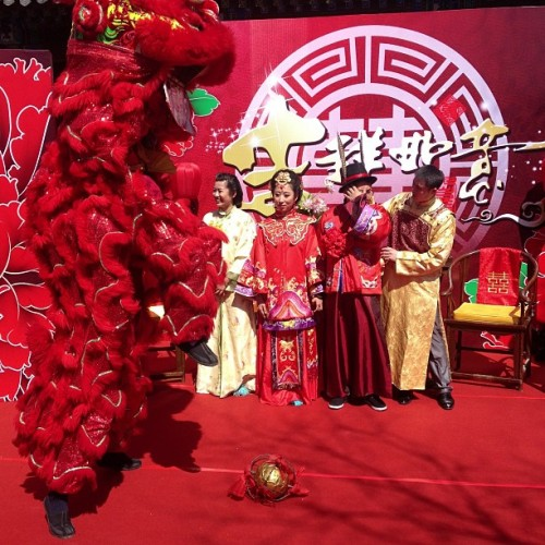 Lucky dragon at wedding (at 什刹海公园  Shichahai Park)